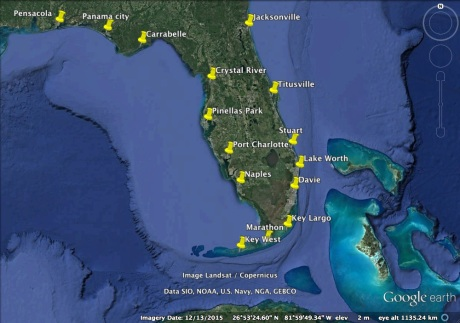 Pins-FL Map FWC Workshops
